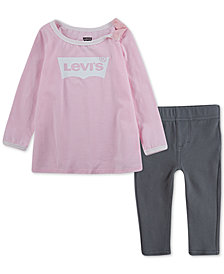 Levi's® Baby Girls 2-Pc. Logo T-Shirt & Leggings Set