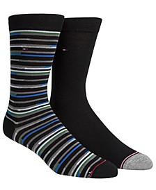 Men's 2-Pk. Striped Socks