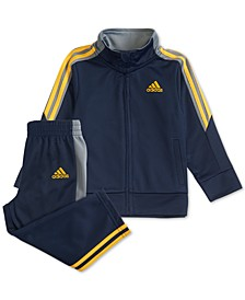 Toddler Boys 2-Pc. Tri-Color Jacket & Pants Set
