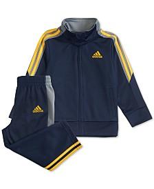adidas Toddler Boys 2-Pc. Tri-Color Jacket & Pants Set