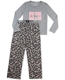 Big Girls 2-Pc. Logo Fleece Pajamas Set