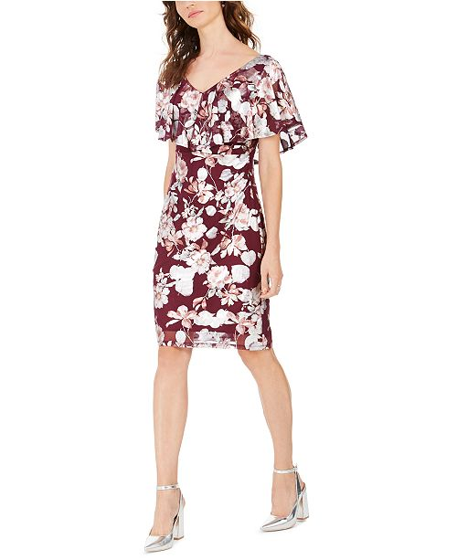 Connected Floral Sheath Dress, Created For Macy's