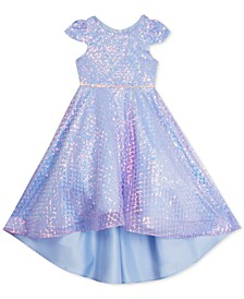 Little Girls Sequined High-Low Dress