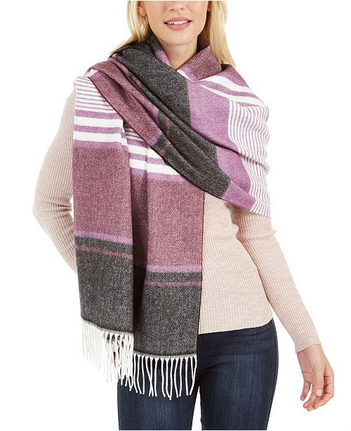 Calvin Klein Striped Blanket Scarf