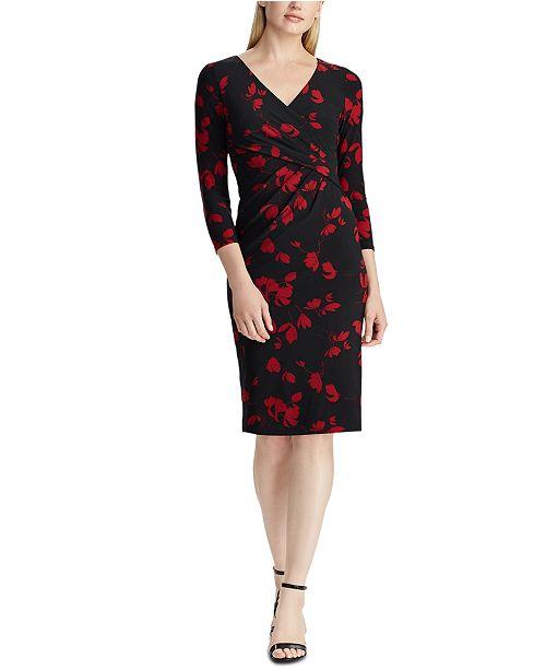 Lauren Ralph Lauren Petite Wrap-Front Jersey Dress