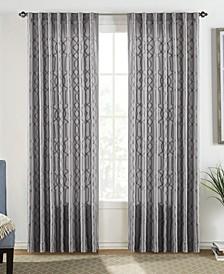 "Adalina 54"" x 84"" Embroidered Curtain Set"