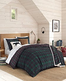 Woodland Tartan Green Comforter Set, Full/Queen