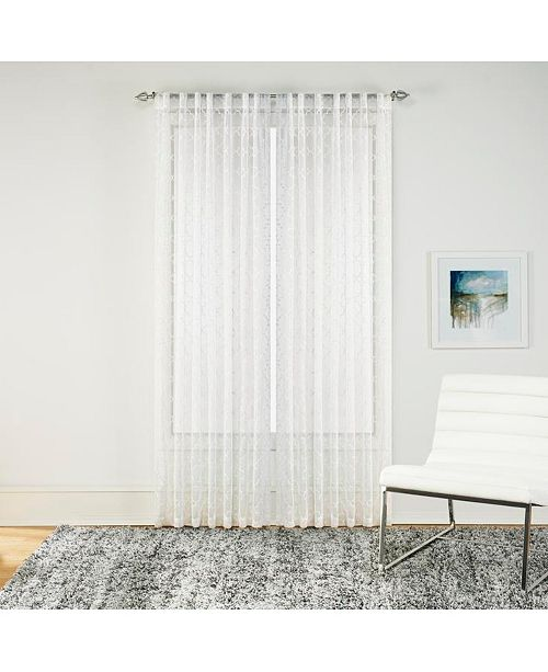 "Sure Fit Macau 52"" x 84"" Embroidered Sheer Curtain Set"