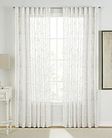 """Francis Embroidered 54"""" x 95"""" Sheer Curtain Set"""