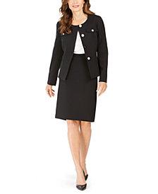 Le Suit Crewneck Slim Skirt Suit