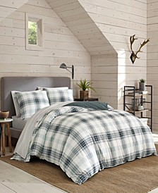 Winter Ridge Plaid Green Duvet Cover Set, King