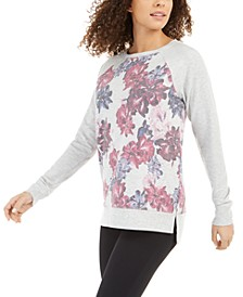 Floral Printblocked Terry Top, Created for Macy's