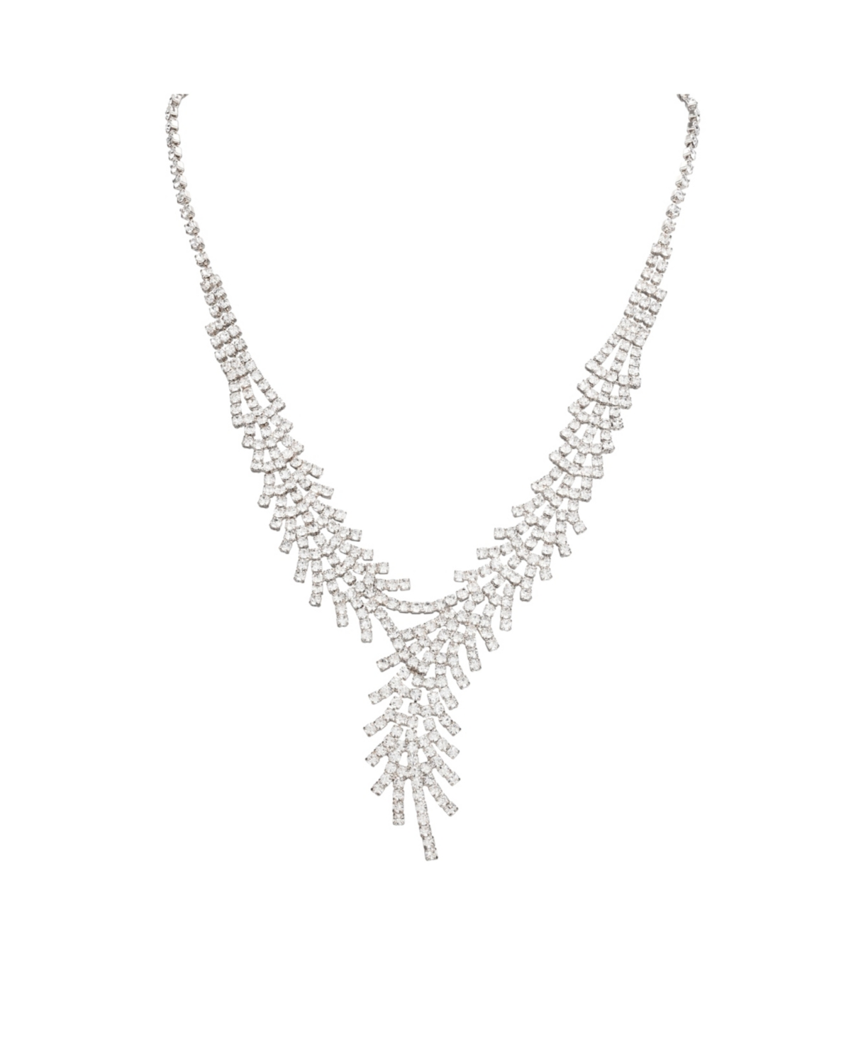 Nina Jewelry Crystal Bypass Y Necklace