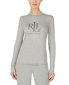 Logo Long Sleeve Pajama Top