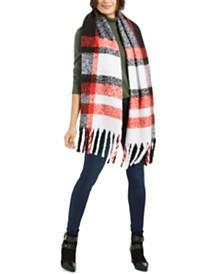 Calvin Klein Chunky Plaid Blanket Scarf