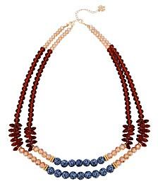 Nanette Nanette Lepore Double Row Beaded Necklace
