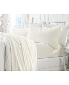 Great Bay Home Extra Soft Cozy Velvet Plush Solid King Sheet Set
