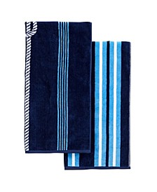 Great Bay Home Jacquard Plush Nautical Beach Towel Collection