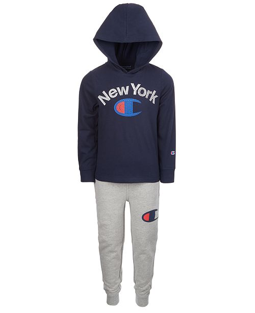 Champion Little Boys 2-Pc. Hoodie & Pants Set