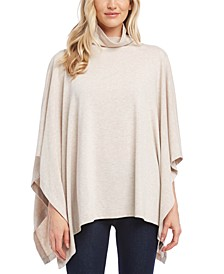 Funnel-Neck Handkerchief-Hem Sweater