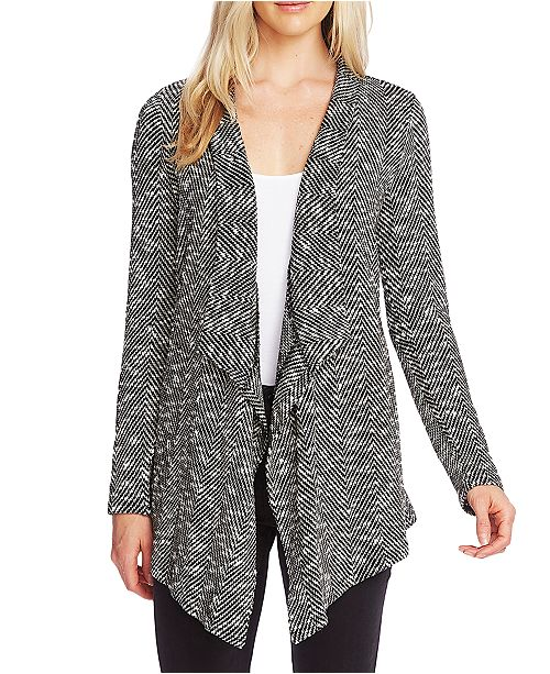 Vince Camuto Drapey Open-Front Cardigan