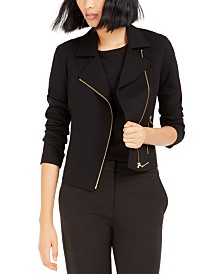 Bar III Moto Jacket, Created For Macy's