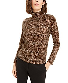 Animal Print Turtleneck Top, Created For Macy's