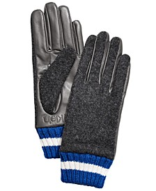 Leather & Knit Combo Gloves