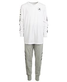 Big Boys Graphic-Print Cotton T-Shirt & Sport Jogger Pants