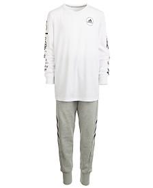 adidas Big Boys Graphic-Print Cotton T-Shirt & Sport Jogger Pants