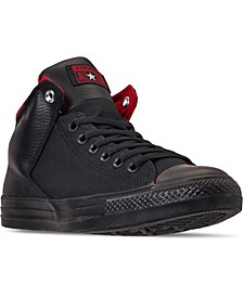 Men's Chuck Taylor Street Space Explorer High Top Casual Sneakers from Finish Line