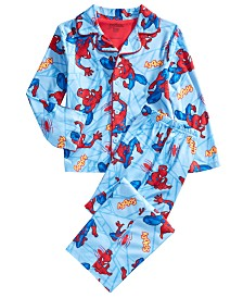 AME Little & Big Boys Spider-Man-Print Pajama Set