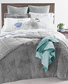 Whim by Martha Stewart Collection Shaggy Fur 3-Pc. Comforter Sets, Created for Macy's