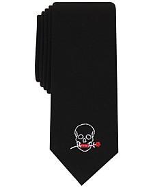 INC Men's Skinny Skull Panel Tie, Created for Macy's