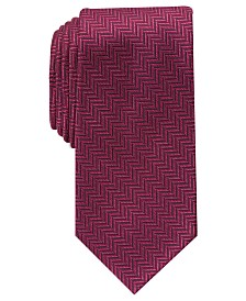 Perry Ellis Men's Savin Herringbone Tie