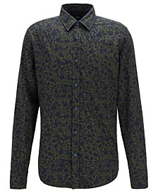 BOSS Men's Retro-Print Cotton Shirt