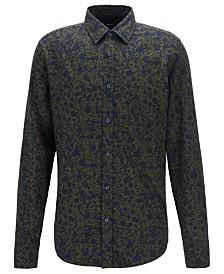 BOSS Men's Retro-Print Cotton Shirt