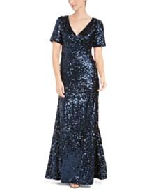Calvin Klein Sequined Gown