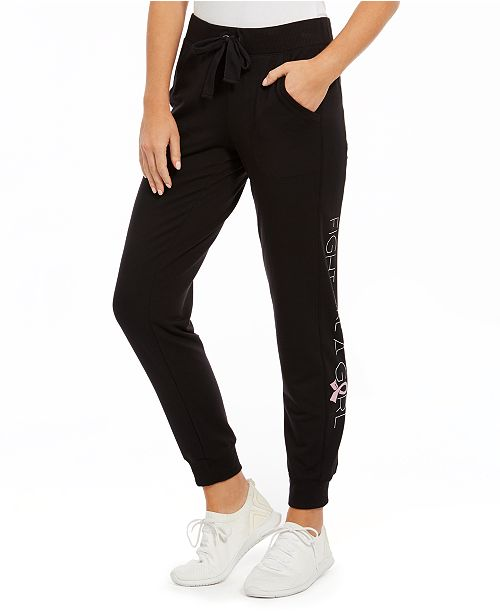 Ideology Fight Like A Girl Joggers, Created for Macy's