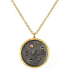"Zodiac Diamond Gold 18"" Reversible Necklace"
