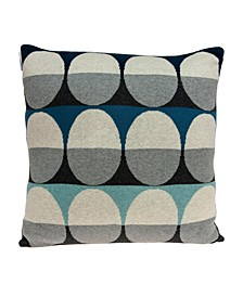 Niam Transitional Multicolor Pillow Cover with Polyester Insert