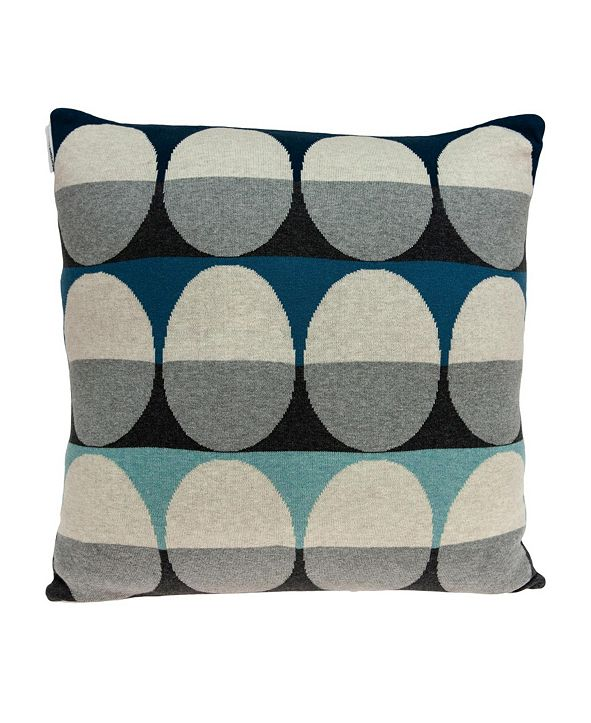 Parkland Collection Niam Transitional Multicolor Pillow Cover with Polyester Insert