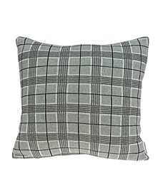 Qincy Transitional Grey Pillow Cover with Polyester Insert