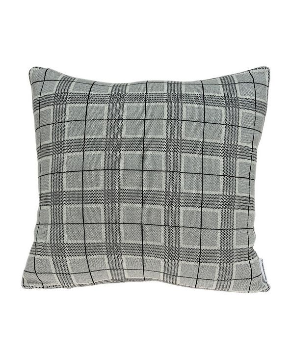 Parkland Collection Qincy Transitional Grey Pillow Cover with Polyester Insert