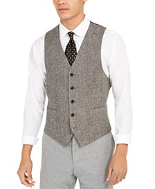 Men's Classic-Fit Herringbone Vest