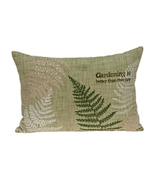Eureka Tropical Green Pillow Cover with Polyester Insert