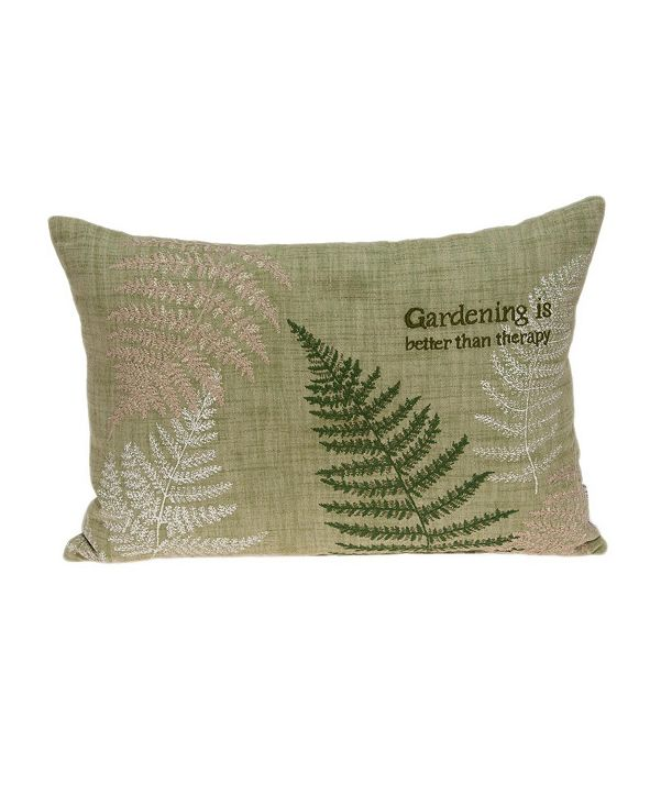 Parkland Collection Eureka Tropical Green Pillow Cover With Down Insert