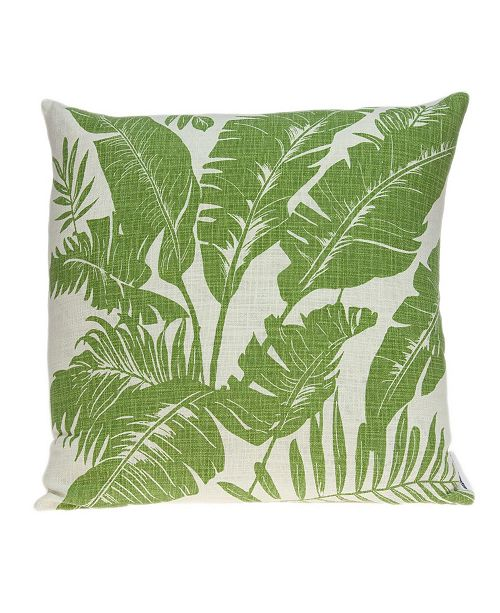 Parkland Collection Canary Tropical Green Pillow Cover with Polyester Insert