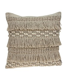 Paloma Bohemian Beige Pillow Cover With Down Insert