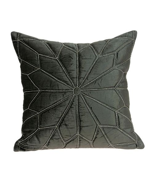 Parkland Collection Lolu Transitional Grey Pillow Cover
